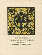Ex libris Roberti F Metzdorf