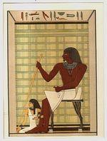 Ti und seine Gemahlin Grabgemalde der V Dynastie in Memphis