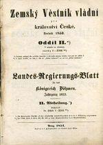 Zemsky vestnik vladni pro kralovstvi Ceske roc 1853 | antikvariat - detail knihy