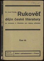 Rukovet dejin ceske literatury  Cast III