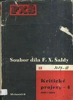 Soubor dila F X  Saldy  Kriticke projevy 4  18981900