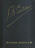 Soubor dila F X  Saldy  Kriticke projevy 12  19221924