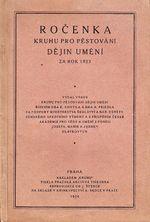 Rocenka Kruhu pro pestovani dejin umeni za rok 1923