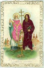 Svaty obrazek  Sv  Methodej a sv  Cyrill apostolove slovanu