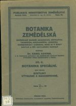 Botanika zemedelska II dil  Botanika specialni cast I  Rostliny vytrusne a nahosemenne