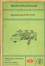 Ersatzteilkatalog  Radrechwender E 247 E 249