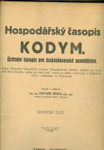 Kodym  hospodarsky casopis  roc  XIII