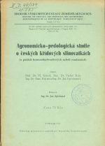 Agronomicko  pedologicka studie o ceskych kridovych slinovatkach