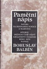Pametni napis Satira na Bernarda Ignace z Martinic      Pametni napis  Satira na Bernarda Ignace z Martinic