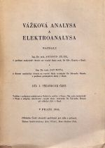 Vazkova analysa a elektroanalysa  Dil I  vseobecna cast
