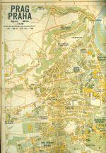 Prag  Stadtplan mit Erlauterungen  Plan mesta s vysvetlivkami