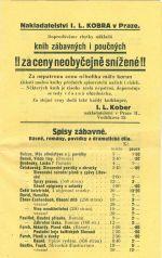 Nabidkovy katalog knih nakladatelstvi Solc a Simacek a I L Kober Praha