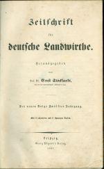 Zeitschrift fur Deutsche Landwirthe