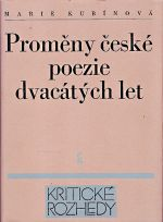 Promeny ceske poezie dvacatych let