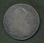 Tolar 1766 Badensko Karl Friedrich
