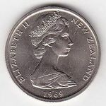 50 Cents 1969 Novy Zeland Elizabeth II