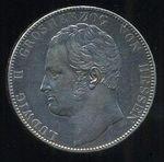 2 Tolar spolkovy 35 Guld 1842 Hessen  Darmst Ludwig II