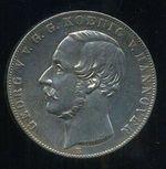 2 Tolar spolkovy 1855B Hannover Hannover Georg V