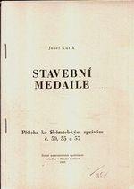Stavebni medaile  priloha ke Sberatelskym zpravam