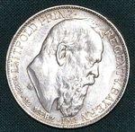 2 Marka 1911 D Bavorsko Luitpold princ regent