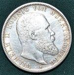 2 Marka 1904 F  Wurttemberg Wilhelm II