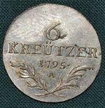 6 Krejcar 1795A Rakousko Frantisek II