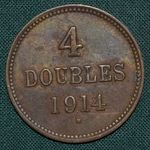 4 Doubles 1914 H Guernsey George V