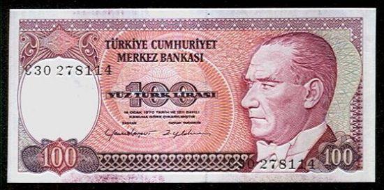 Turecko  100 Lirasi - C794 | antikvariat - detail bankovky