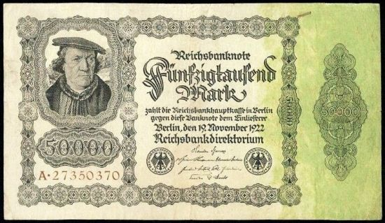 50000 Marka 1922 - A9273 | antikvariat - detail bankovky
