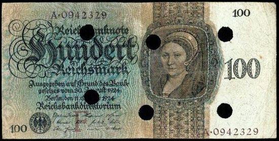 100 Marka 1924 - A9285 | antikvariat - detail bankovky