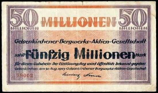 Gelsenkirchen 50 mil Marek - A9293 | antikvariat - detail bankovky