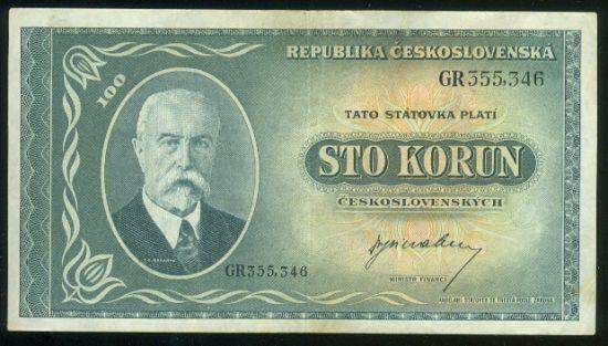 100 Koruna bl - 9503 | antikvariat - detail bankovky