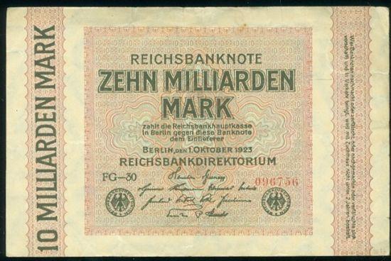 10 Miliard Marek 1923 - 9526 | antikvariat - detail bankovky