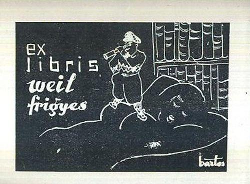 Ex libris Weil Frigies - Bartos   antikvariat - detail grafiky