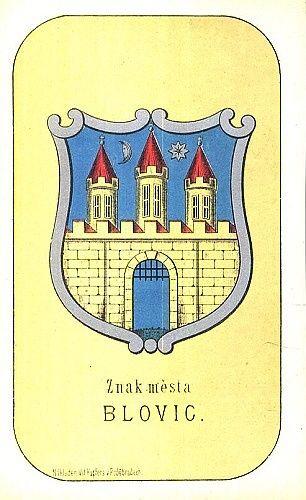 Znak mesta Blovic   antikvariat - detail grafiky
