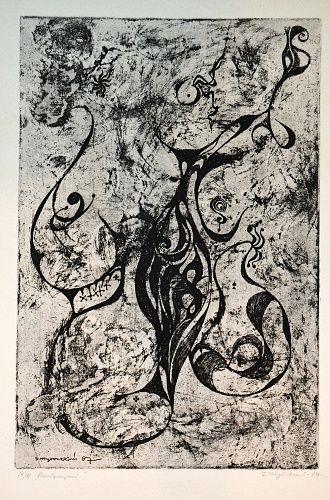 Abstraktni motiv | antikvariat - detail grafiky