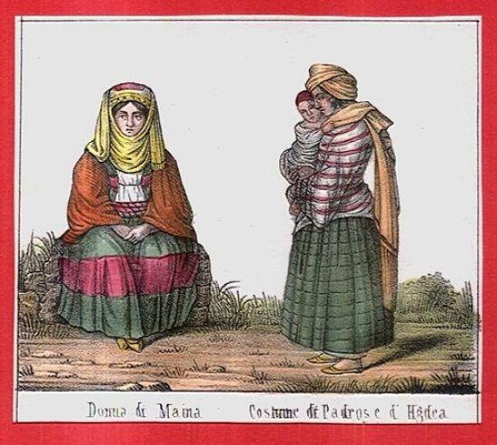 Tradice  kroje a zvyky | antikvariat - detail grafiky