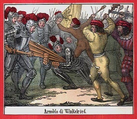 Arnoldo di Winkelried | antikvariat - detail grafiky