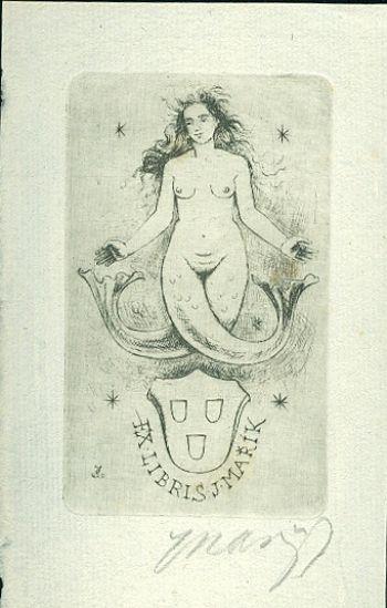 Ex libris J Marik - Marik Jaroslav | antikvariat - detail grafiky