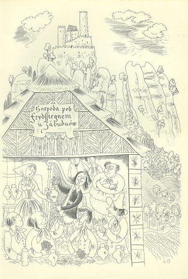 Hospoda - Bouda Cyril   antikvariat - detail grafiky