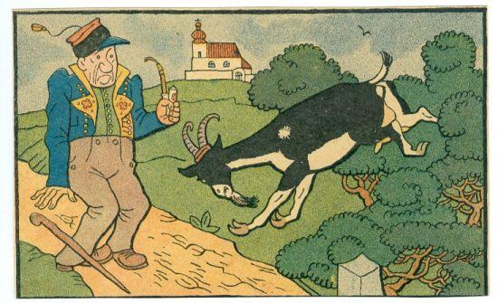 Dedek a kozel - Lada Josef | antikvariat - detail grafiky