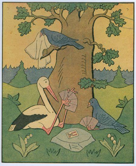 Cap hraje karty s holubem - Lada Josef   antikvariat - detail grafiky