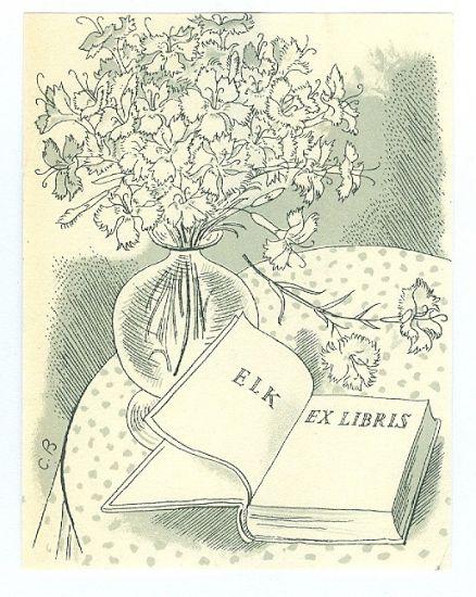 ELK  Ex libris - Bouda Cyril | antikvariat - detail grafiky