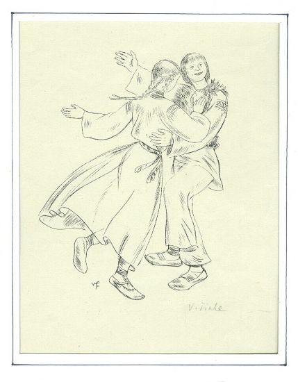 Tanec - Fiala V  | antikvariat - detail grafiky