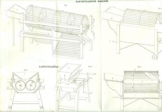 Zemedelske stroje   litografie | antikvariat - detail grafiky