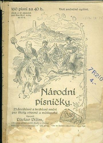 Narodni pisnicky  23 dvojhlase a trojhlase smesi pro skoly obecne a mestanske - Vilim Vaclav  upravil | antikvariat - detail knihy