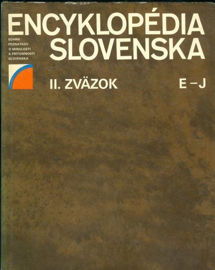 Encyklopedie Slovenska  II  zazok E  J   antikvariat - detail knihy