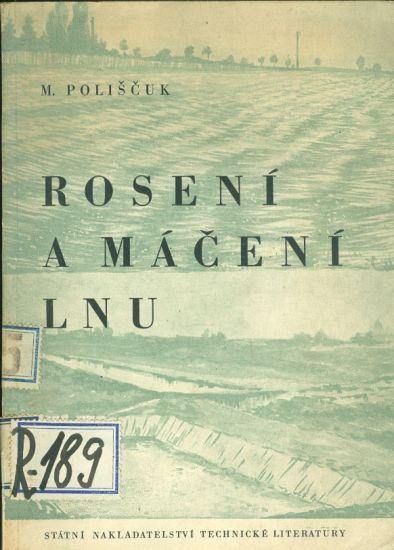 Roseni a maceni lnu - Poliscuk M    antikvariat - detail knihy