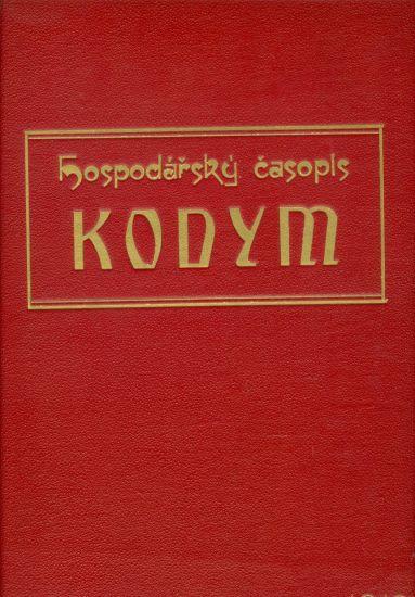 Hospodarsky casopis KODYM roc IX - Reich Edvard  redaktor | antikvariat - detail knihy