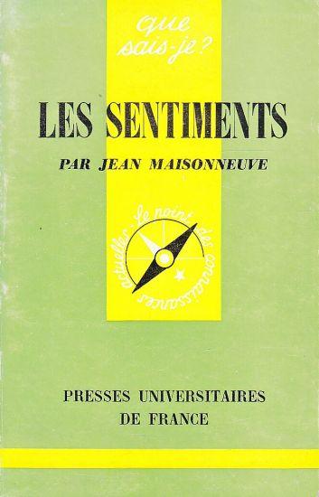 Les Sentiments - Maisonneuve Jean | antikvariat - detail knihy